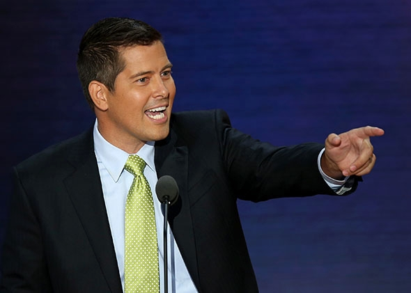 U.S. Rep. Sean Duffy (R-WI) speaks during the Republican National Convention August 2012 in Tampa, Florida.