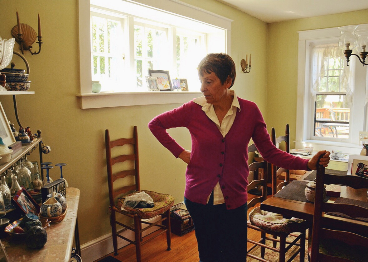 Sandra Cooper at home in Lancaster.