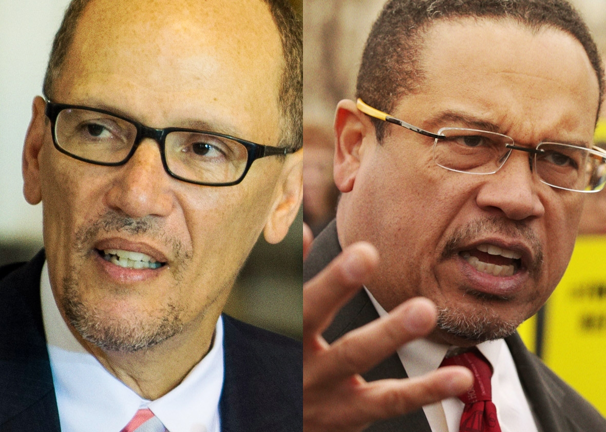 Department of Labor Secretary Thomas Perez and U.S. Rep. Keith Ellison (D-MN)