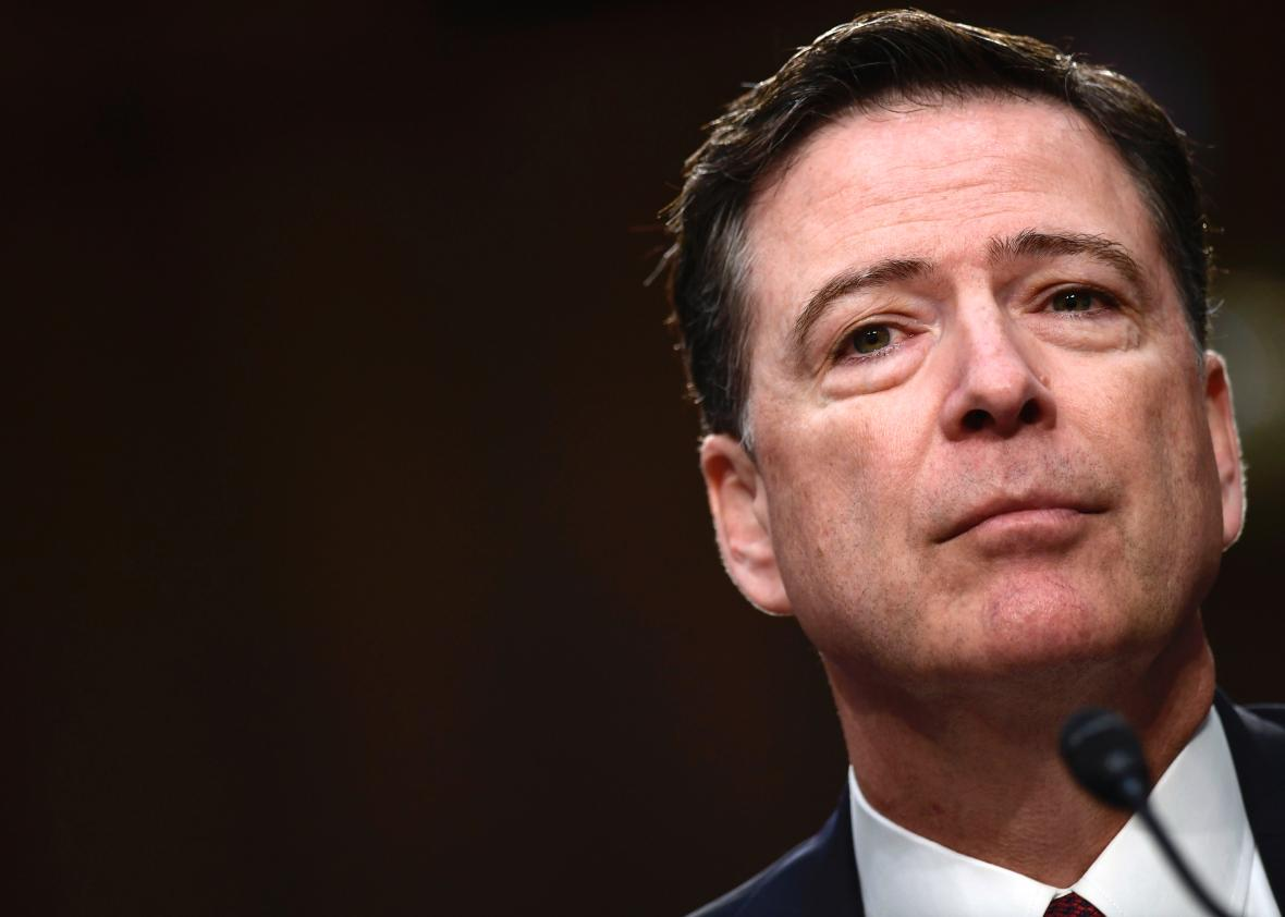 Comey claims his moment at hearing