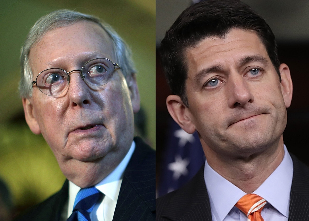 Senate Majority Leader Sen. Mitch McConnell (R-KY)Senate Majority Leader Sen. Mitch McConnell (R-KY) and speaker of the House Paul Ryan (R-WI)