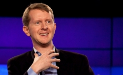 Contestant Ken Jennings attends a press conference.