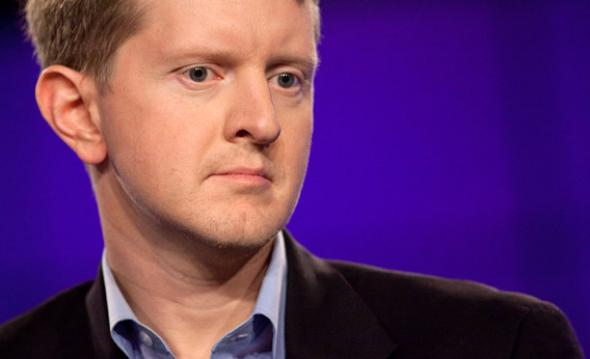 Contestant Ken Jennings attends a press conference to discuss the upcoming Man V. Machine 'Jeopardy!'.