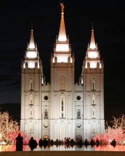 Mormon Church in Salt Lake City.