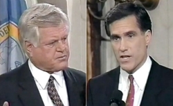 Ted Kennedy debates Romney in 1994.