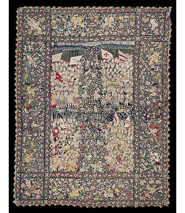 Bedcover or Hanging, 17th century; Indian (Gujarat), for the Portuguese market.