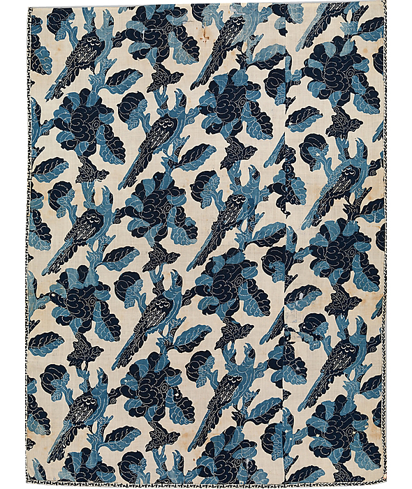 Blue-Resist Panel, mid-18th century; Probably Indian, for the American market.