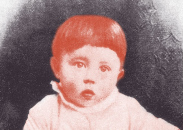 Adolf Hitler as a baby.