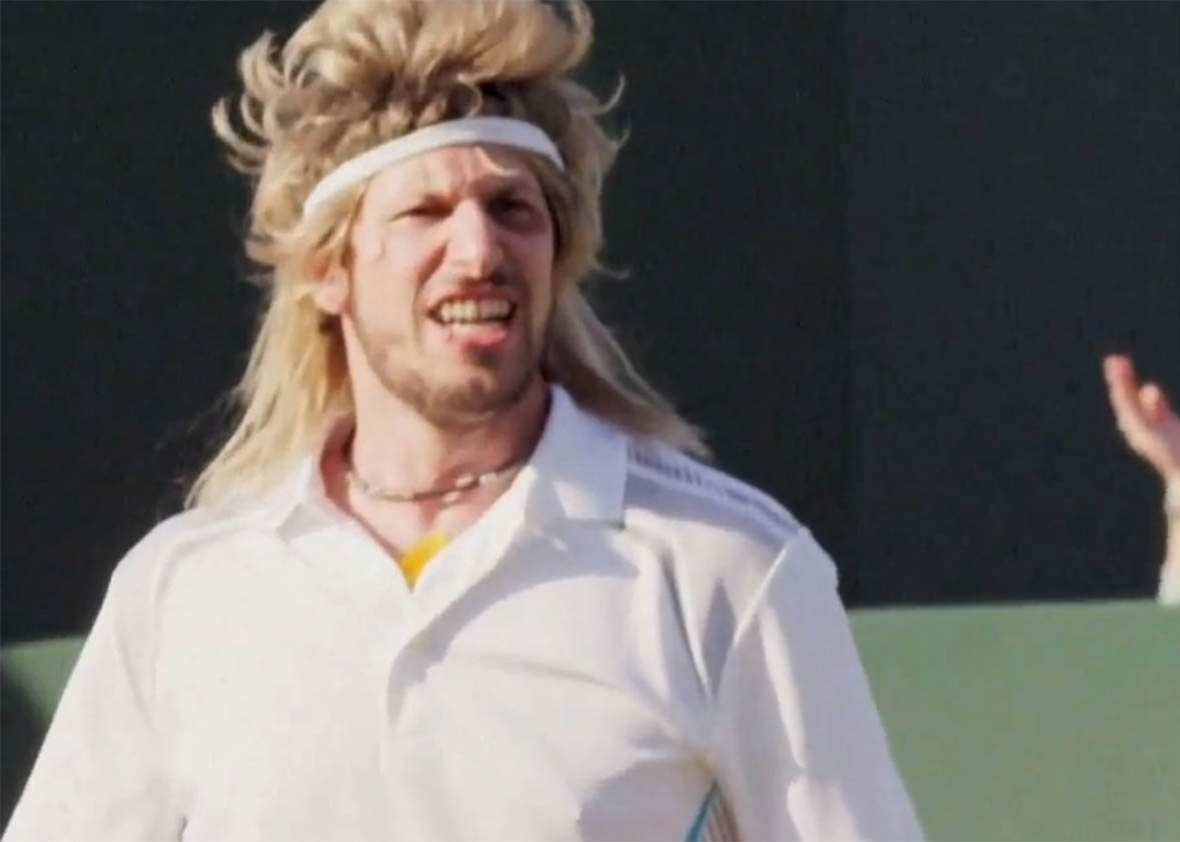 Andy Samberg in the tennis mockumentary 7 Days in Hell