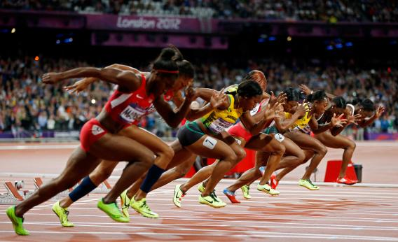 100 Meters Visual : Women s meters olympics watch shelly ann fraser