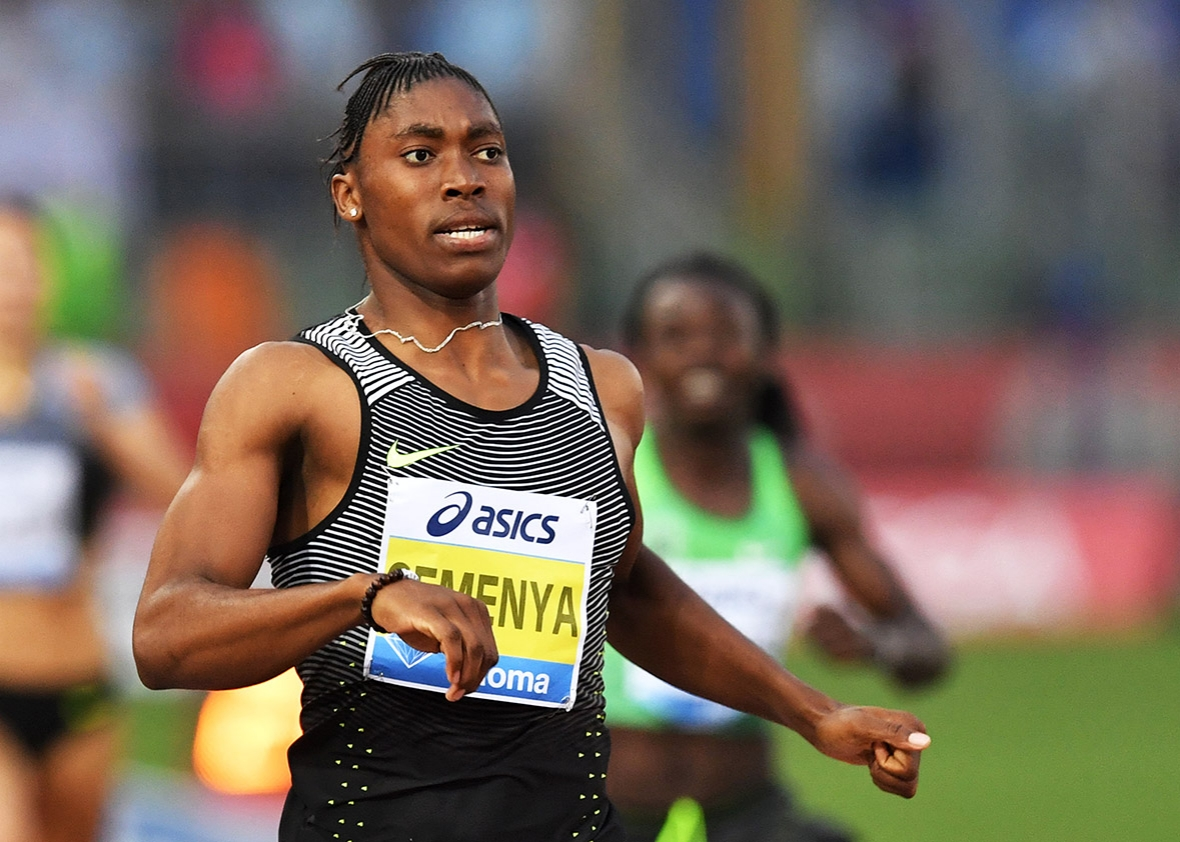 ... sports. Above, Semenya competes at the Olympic Stadium in Rome on June
