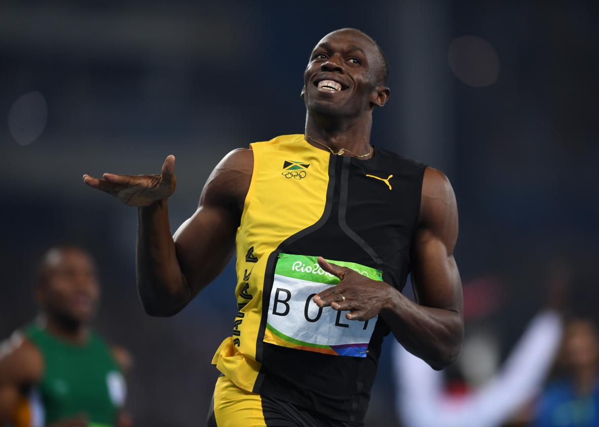 Usain Bolt of Jamaica wins the men's 100-meter final on Day 9 of the ...