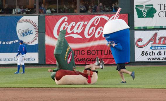 "The Iowa Cubs' Kum & Go ""Go, Go, Go"" Race, Des Moines, Iowa."