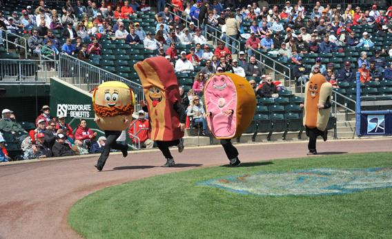 The Lehigh Valley IronPigs' Pork Racers, Allentown, Pa.