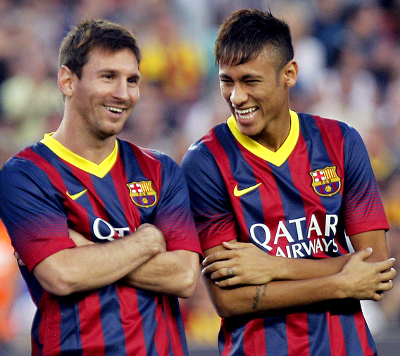 Photo of Neymar & his friend  Lionel Messi