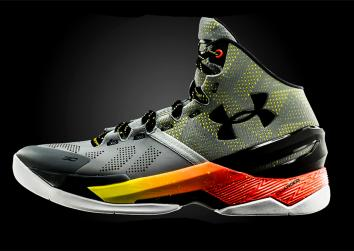 Under Armour's Curry 2 sneakers.