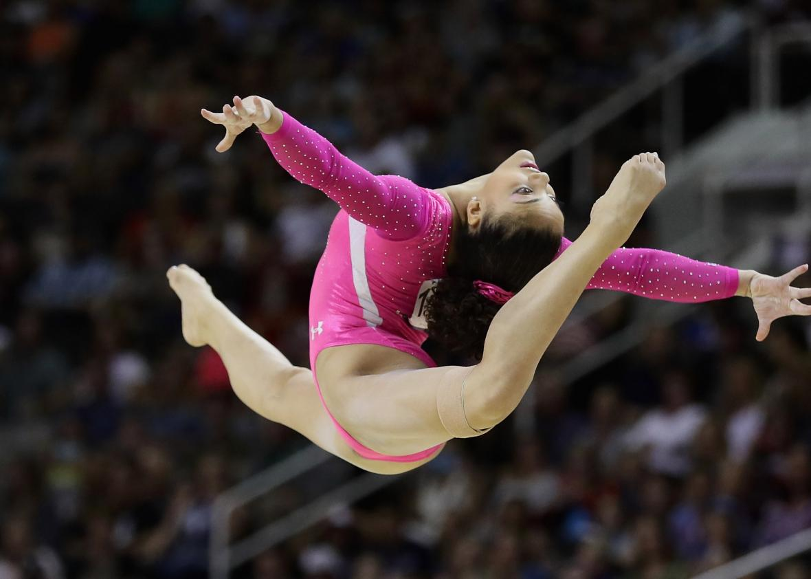 The best photos from the 2016 u s women 39 s gymnastics for Floor gymnastics