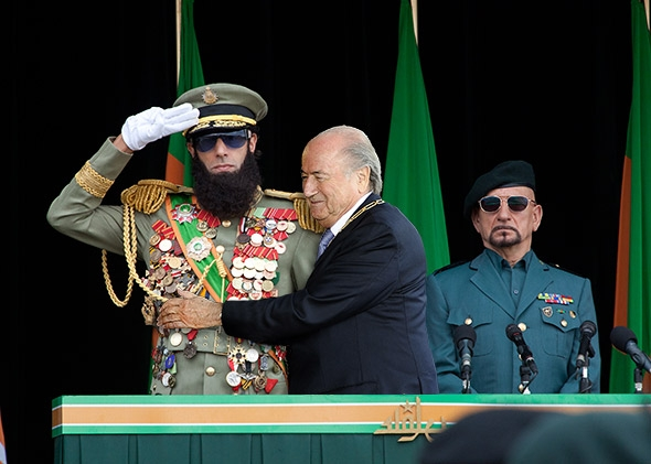 THE DICTATOR and Joseph Blatter.