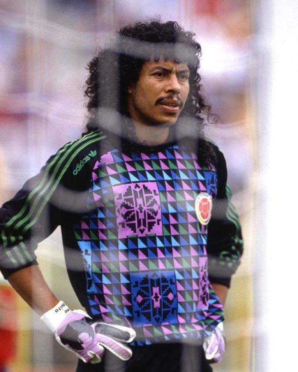 Colombian goalkeeper Rene Higuita, June 1990.
