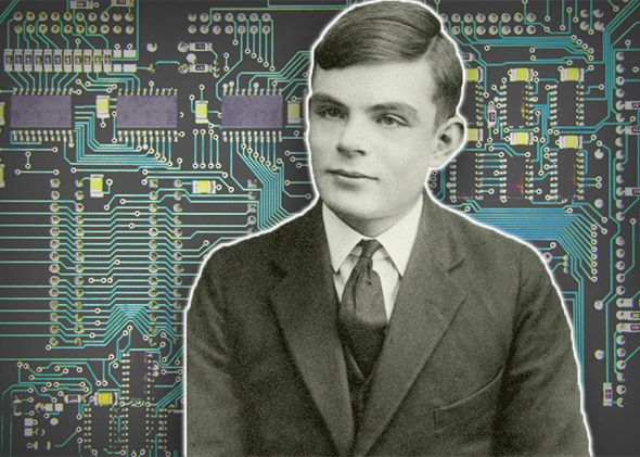 Alan Turing, father of modern computer science.