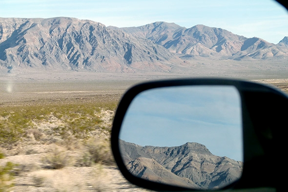 Driving into Death Valley, we were awestruck by the stark landscape.