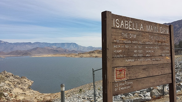 Lake Isabella is but a brief stopover for the Kern River on its way to nearly total diversion for agricultural purposes downstream. The lake right now is at about 10 percent of capacity.
