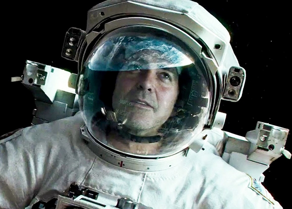 George Clooney in Gravity.