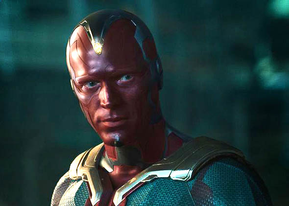 Vision (Paul Bettany) in Marvel's Avengers: Age of Ultron.