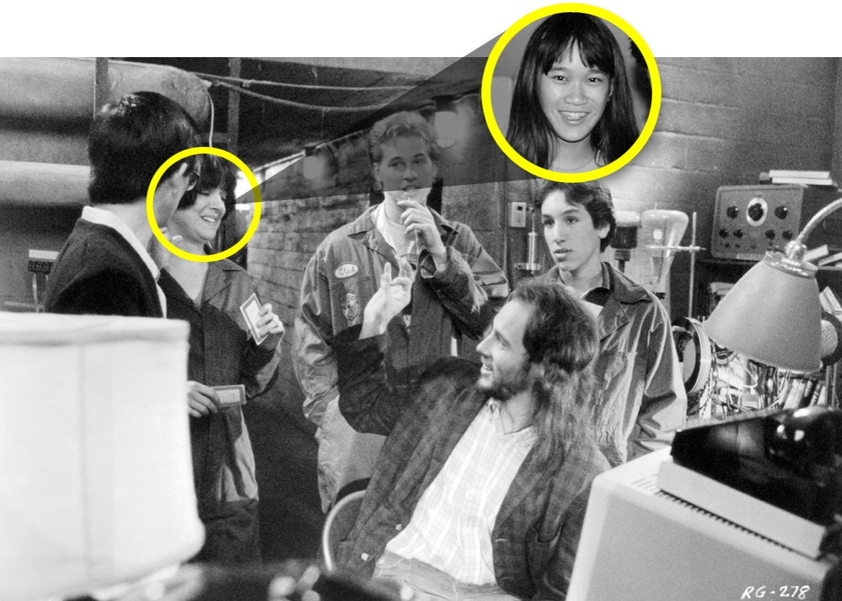 The character played by Michelle Meyrink on Real Genius was inspired by Phyllis Rostykus, inset.