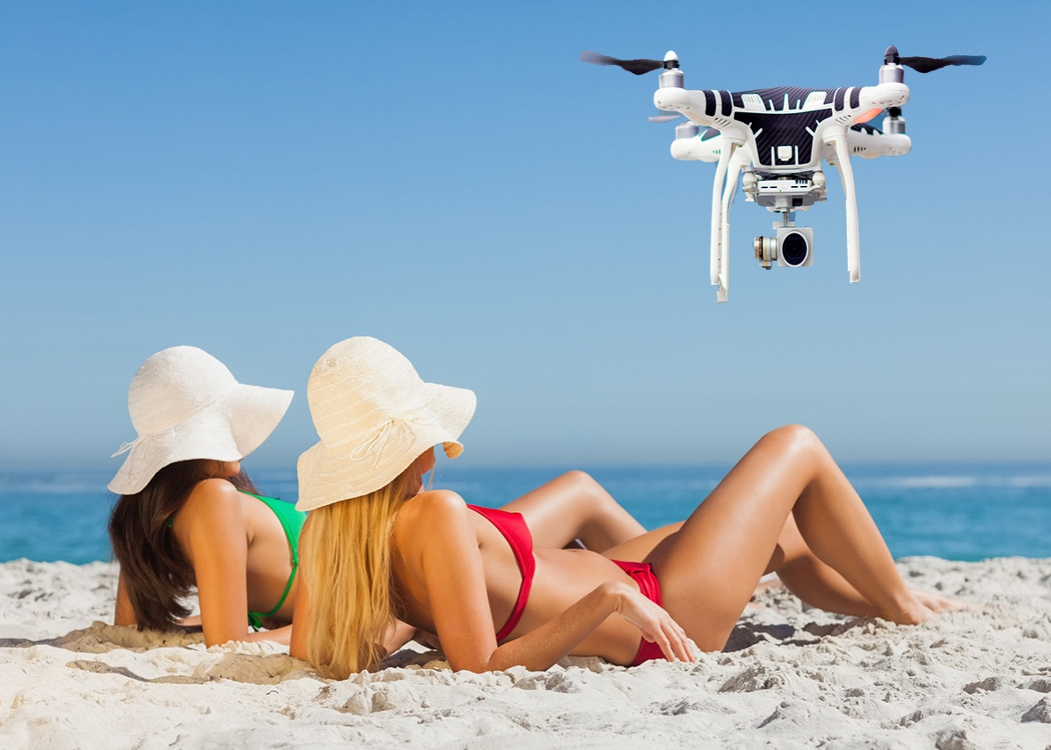 Drone spies on teen getting fingered 8