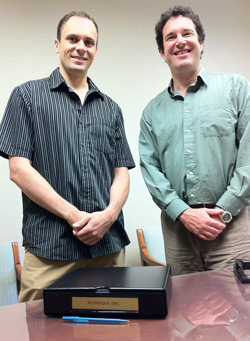 Michael Schmidt and Hod Lipson, Cornell researchers who built a robotic scientist. 