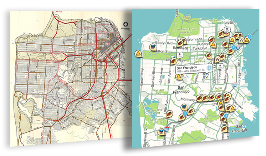 Maps of San Francisco: 1948 Transportation Plan