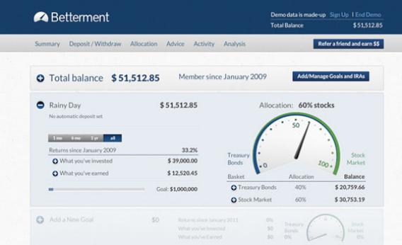 Betterment online investment app