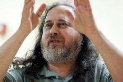 US software freedom activist and computer programmer Richard Stallman.