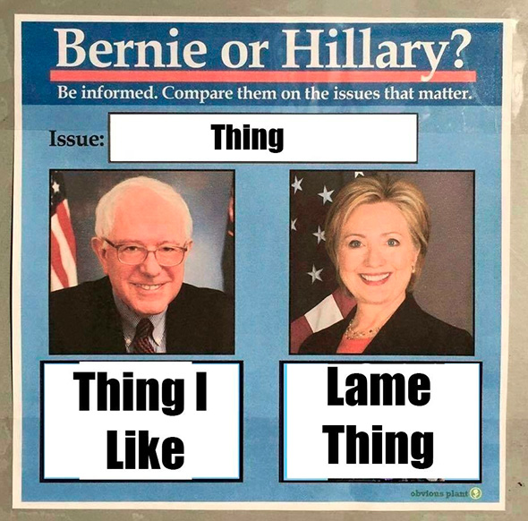 160209_USERS_Sanders-V-Clinton-Lame-Things
