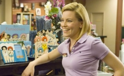 Elizabeth Banks in a still from The 40-Year-Old Virgin.