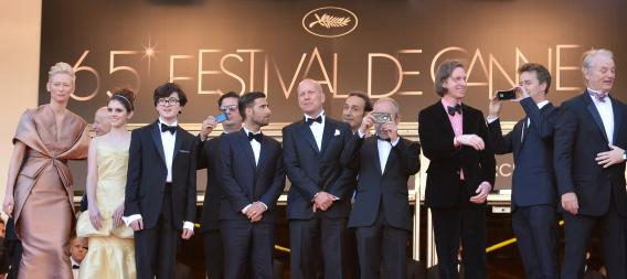 The cast of Moonrise Kingdom at the 65th Cannes film festival.