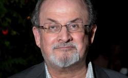 Writer Salman Rushdie attends the after party.