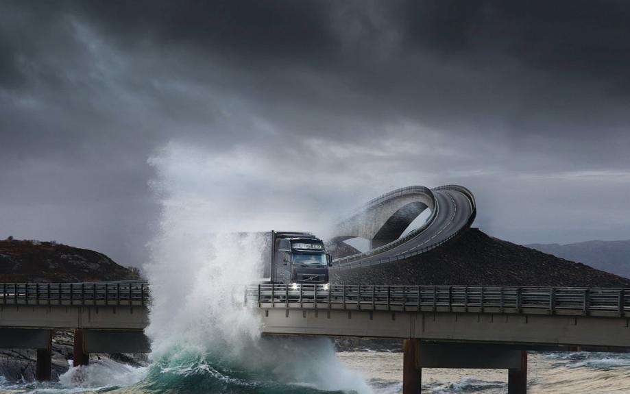 waves_trucks_volvo_bridges_norway_vehicles_atlanterhavsveien_1600x1200_wallpaper_Wallpaper_1440x900_www.wallpaperswa.com