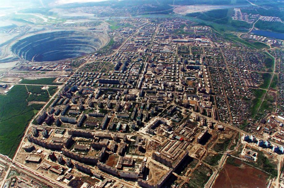 Russian diamond mine is the worlds second largest hole