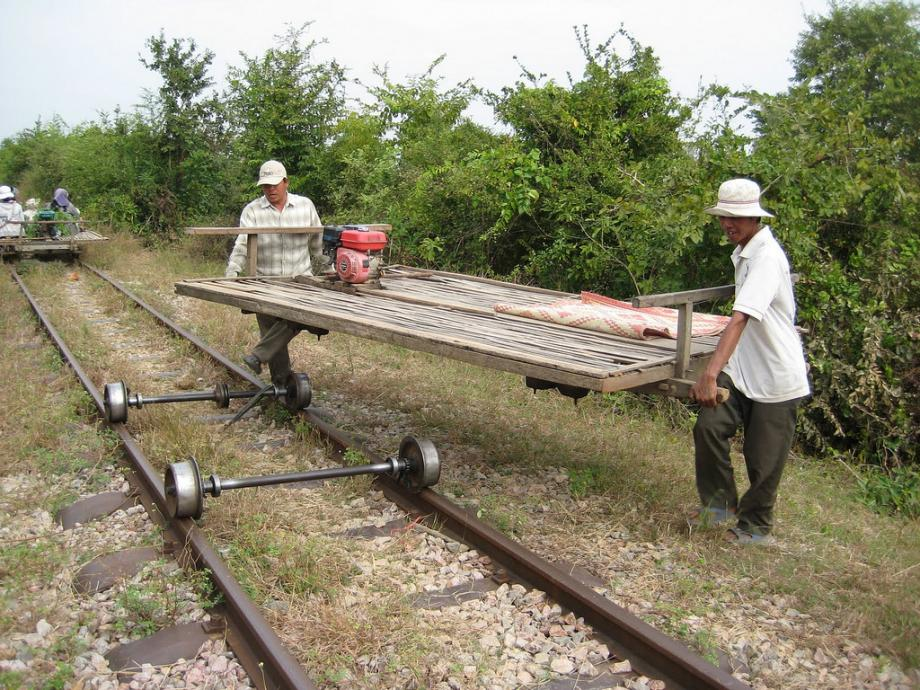 Hop Aboard a Bamboo Train for a Rickety Ride