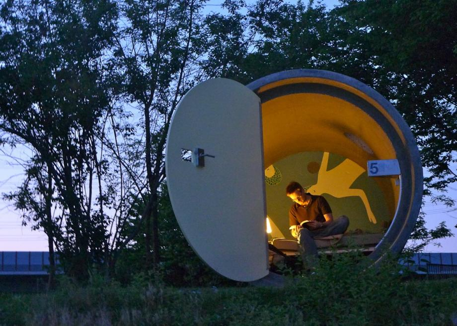 Sleep In A Concrete Sewer Pipe At This Austrian Hotel