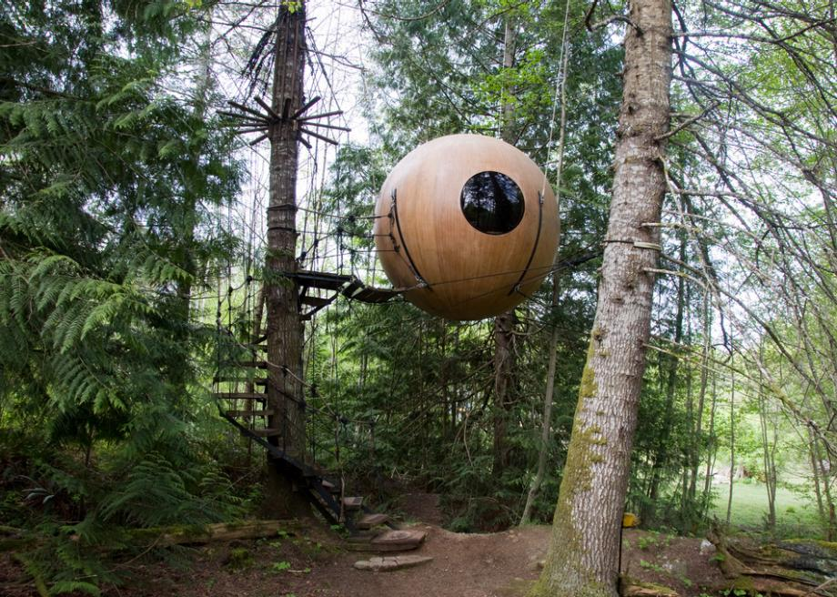 Float In A Forest At Vancouver Island S Free Spirit Spheres