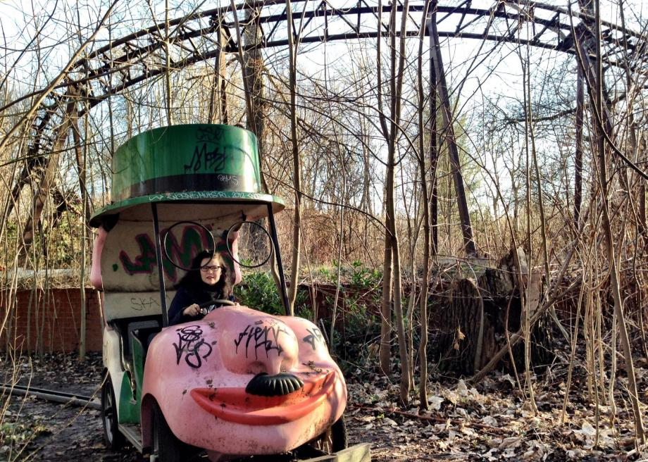 Spreepark in Berlin is an abandoned theme park with an ...