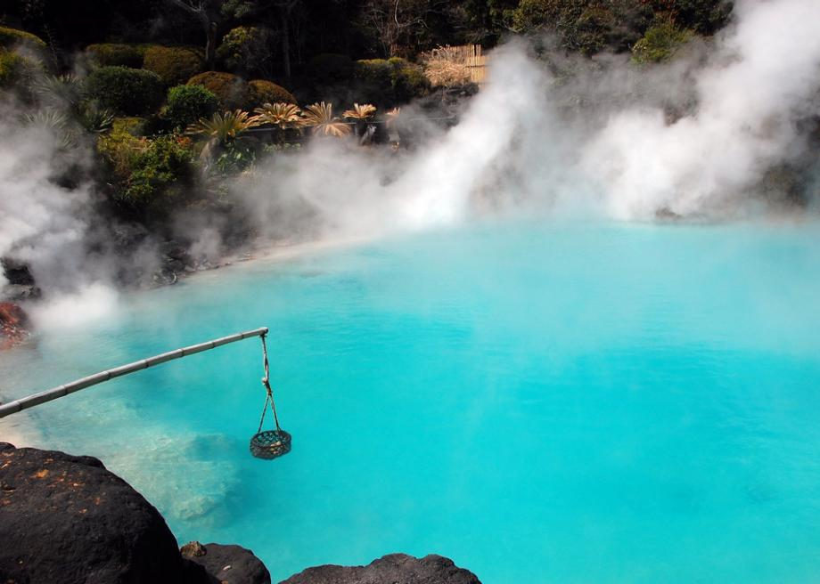 The Hells of Beppu in Japan are steaming ponds with odd themes