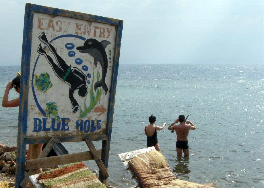 The Blue Hole of Dahab on Egypt's Red Sea is a diver's cemetery.