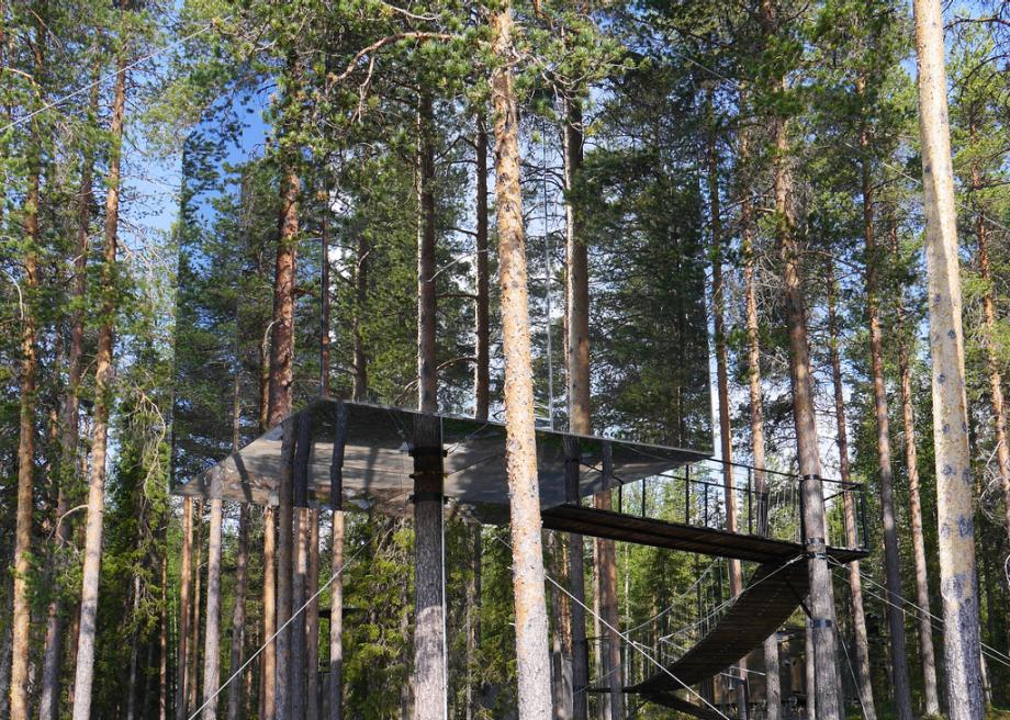 The Mirrorcube Is Part Of Sweden S Treehotel Forest