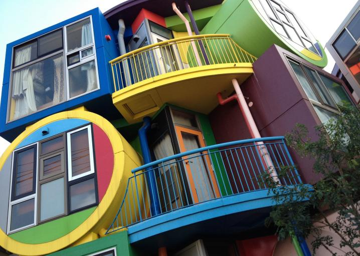 The reversible destiny lofts in mitaka tokyo for Apartment design your destiny