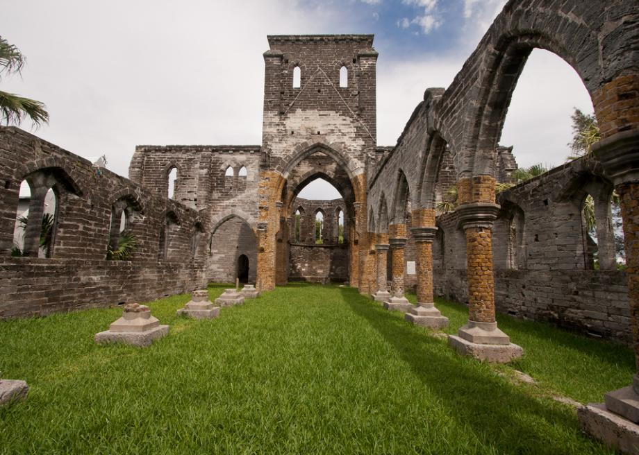 the unfinished church in st george s bermuda