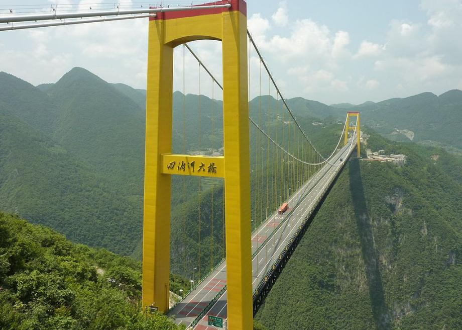 Chinas Sidu River Bridge Rockets Were Used To Establish The - Highest river in the world